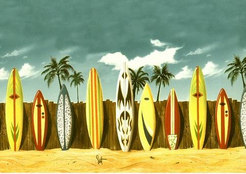Plastic surfboards